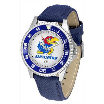 Kansas Jayhawks Competitor - Poly/Leather Band Watch