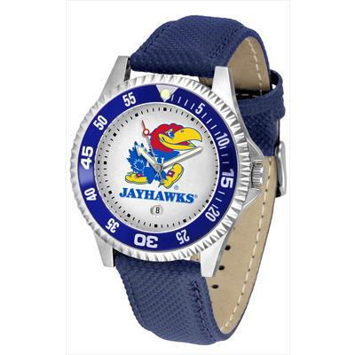 Kansas Jayhawks Competitor - Poly/Leather Band Watch-Watch-Suntime-Top Notch Gift Shop