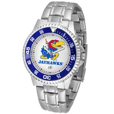 Kansas Jayhawks Competitor - Steel Band Watch-Watch-Suntime-Top Notch Gift Shop