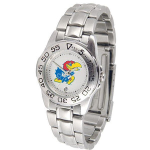 Kansas Jayhawks Ladies Steel Band Sports Watch-Watch-Suntime-Top Notch Gift Shop