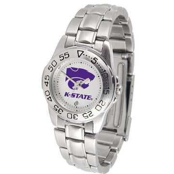 Kansas State Wildcats Ladies Steel Band Sports Watch