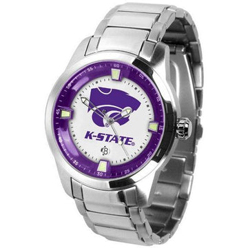 Kansas State Wildcats Men's Titan Stainless Steel Band Watch