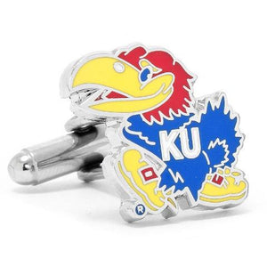 Kansas University Jayhawks Enamel Cufflinks-Cufflinks-Cufflinks, Inc.-Top Notch Gift Shop