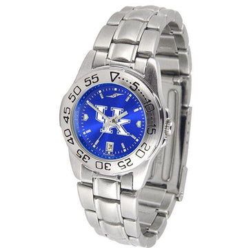 Kentucky Wildcats Ladies AnoChrome  Steel Band Sports Watch