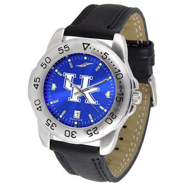 Kentucky Wildcats Mens AnoChrome Leather Band Sports Watch