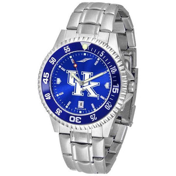 Kentucky Wildcats Mens Competitor AnoChrome Steel Band Watch w/ Colored Bezel