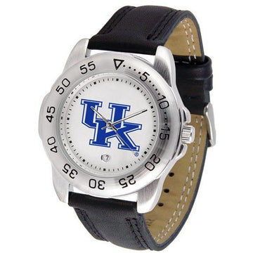 Kentucky Wildcats Mens Leather Band Sports Watch