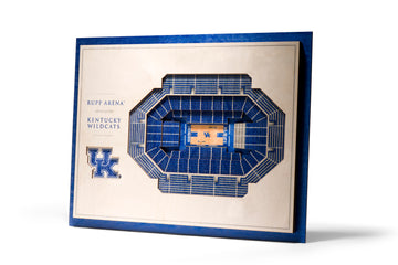 Kentucky Wildcats 5 Layer Stadiumview 3D Wall Art