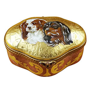 King Charles Spaniels Limoges Box by Rochard™-Limoges Box-Rochard-Top Notch Gift Shop