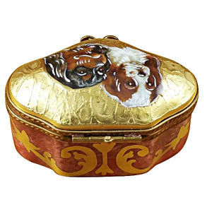 King Charles Spaniels Limoges Box by Rochard™-Rochard-Top Notch Gift Shop