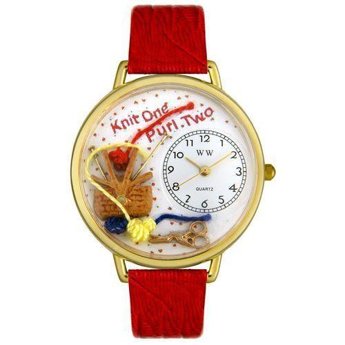 Knitting Watch in Gold (Large)-Watch-Whimsical Gifts-Top Notch Gift Shop