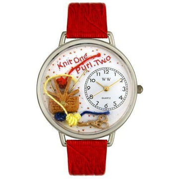 Knitting Watch in Silver (Large)