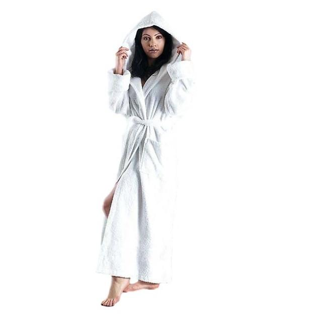 Women's Ultra Hooded Full Length Terrycloth Bathrobe-Bathrobe-ARUS-Top Notch Gift Shop