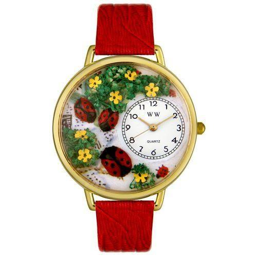 Ladybugs Watch in Gold (Large)-Watch-Whimsical Gifts-Top Notch Gift Shop