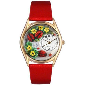Ladybugs Watch Small Gold Style-Watch-Whimsical Gifts-Top Notch Gift Shop