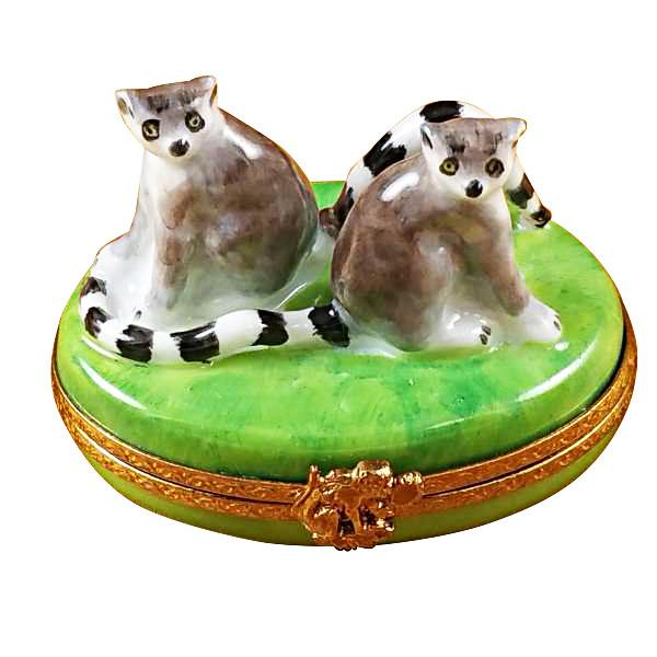 Lemur Monkeys Limoges Box by Rochard™-Limoges Box-Rochard-Top Notch Gift Shop