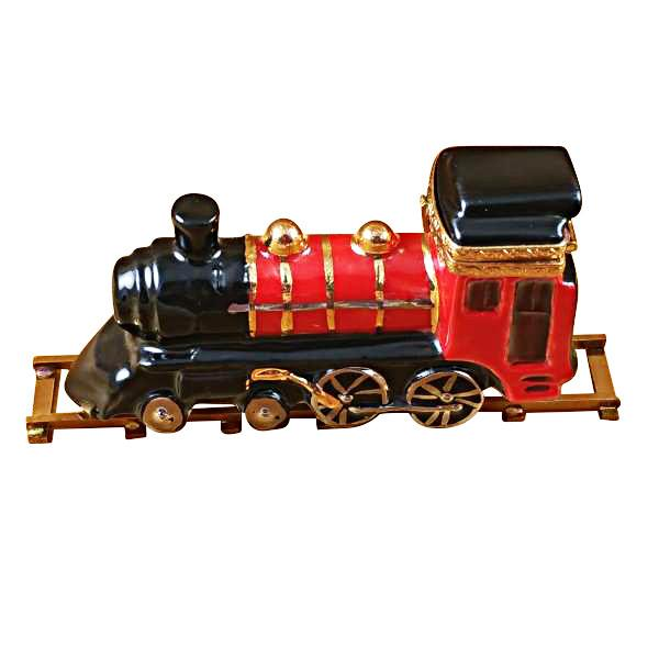 Locomotive/Train On Brass Track Limoges Box-Limoges Box-Rochard-Top Notch Gift Shop