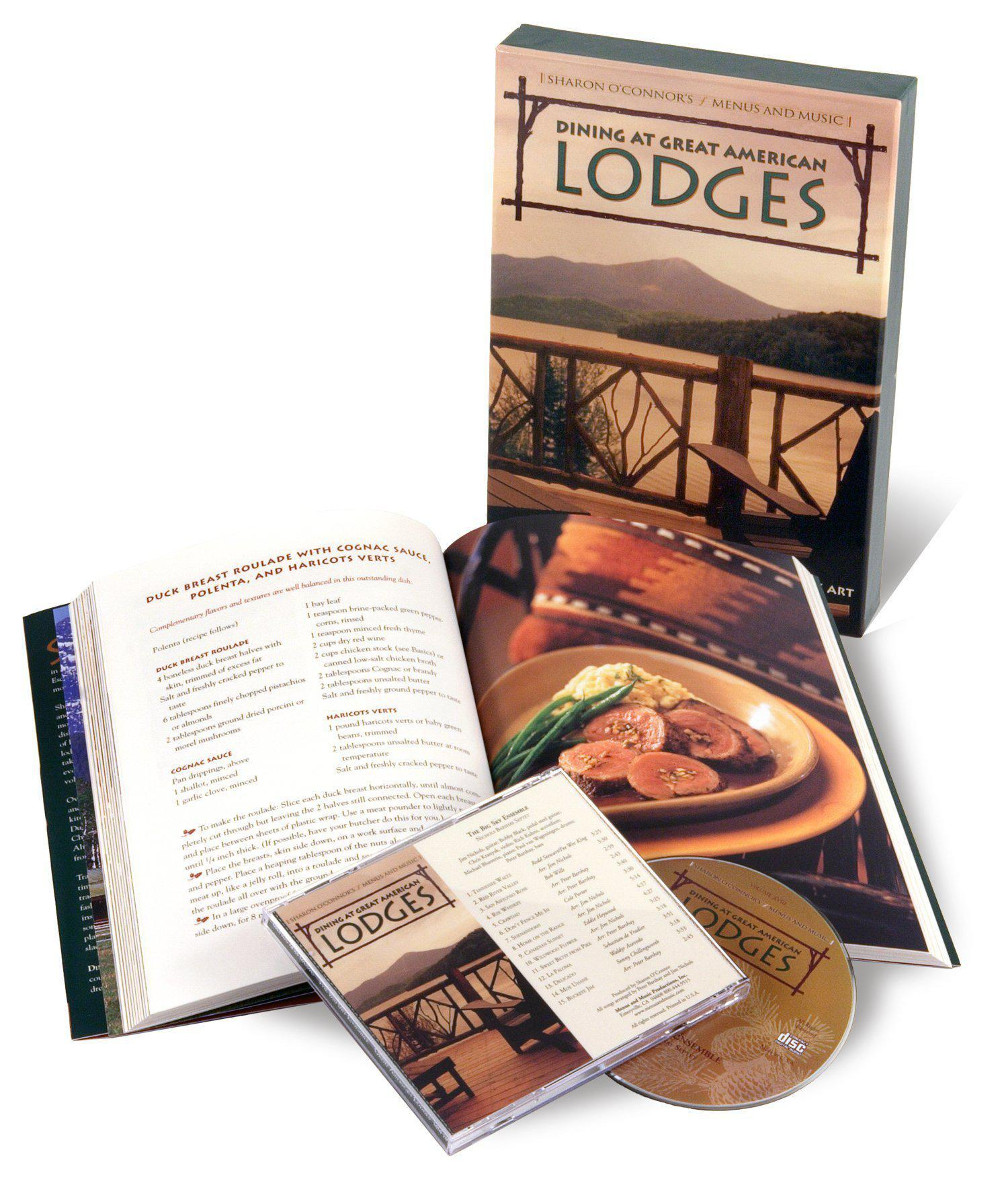 Dining at Great American Lodges - American Cookbook with Music-Book-Menus and Music-Top Notch Gift Shop