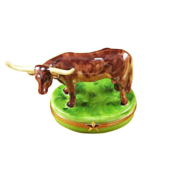 Longhorn With Removable Insert Limoges Box-Limoges Box-Rochard-Top Notch Gift Shop