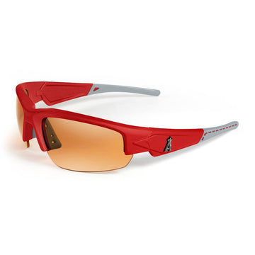 "Los Angeles Angels Dynasty ""Stitch"" Sunglasses, Red with Grey Tips"