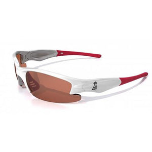Los Angeles Angels Dynasty Sunglasses, White with Red Tips-Sunglasses-Maxx-Top Notch Gift Shop