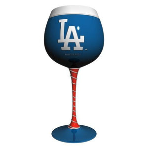 Los Angeles Dodgers Artisan Hand Painted Wine Glass-Wine Glass-Boelter Brands-Top Notch Gift Shop
