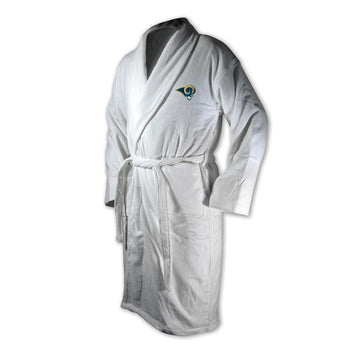 Los Angeles Rams White Terrycloth Bathrobe