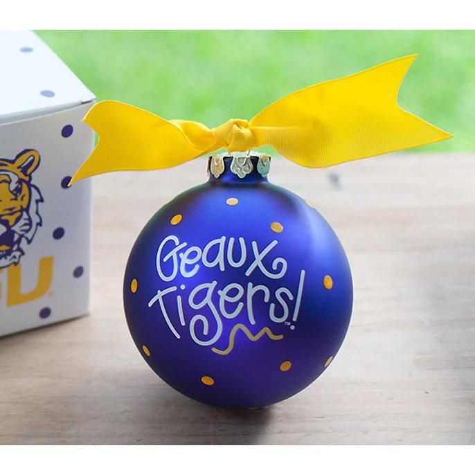 LSU Christmas Ornament-Ornament-Coton Colors-Top Notch Gift Shop