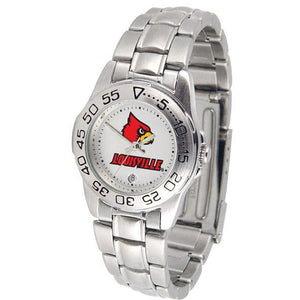 Louisville Cardinals Ladies Steel Band Sports Watch-Watch-Suntime-Top Notch Gift Shop