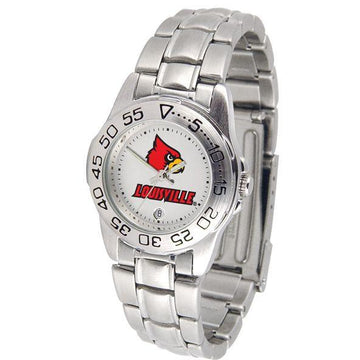 Louisville Cardinals Ladies Steel Band Sports Watch