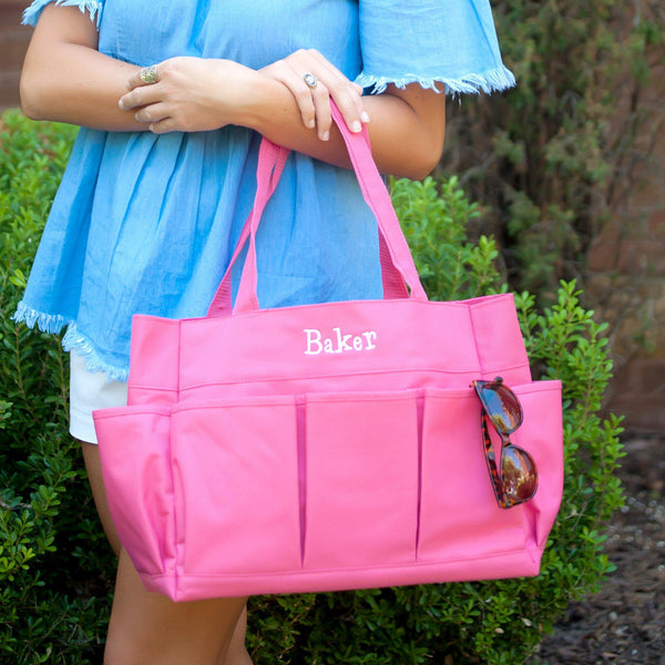 Hot Pink Carry All Bag - Personalized-Bag-Viv&Lou-Top Notch Gift Shop