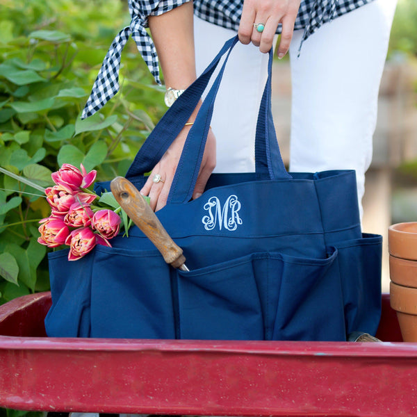 Navy Carry All Bag - Personalized-Bag-Viv&Lou-Top Notch Gift Shop