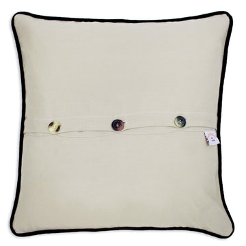 Mackinac Island Hand Embroidered Catstudio Pillow
