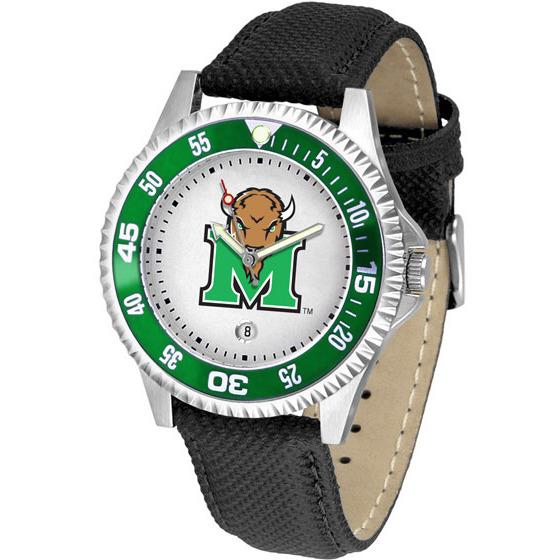Marshall Thundering Herd Competitor - Poly/Leather Band Watch-Watch-Suntime-Top Notch Gift Shop