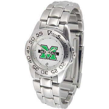 Marshall Thundering Herd Ladies Steel Band Sports Watch