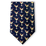 Martini Girls Silk Necktie-Necktie-Josh Bach Limited-Top Notch Gift Shop