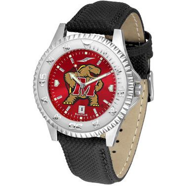 Maryland Terrapins Competitor AnoChrome - Poly/Leather Band Watch-Watch-Suntime-Top Notch Gift Shop