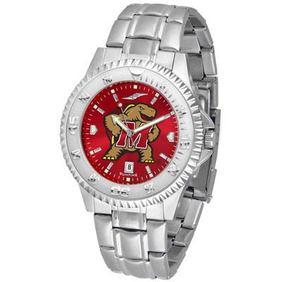 Maryland Terrapins Competitor AnoChrome - Steel Band Watch-Watch-Suntime-Top Notch Gift Shop