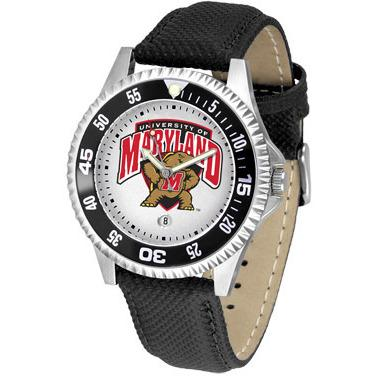Maryland Terrapins Competitor - Poly/Leather Band Watch-Watch-Suntime-Top Notch Gift Shop