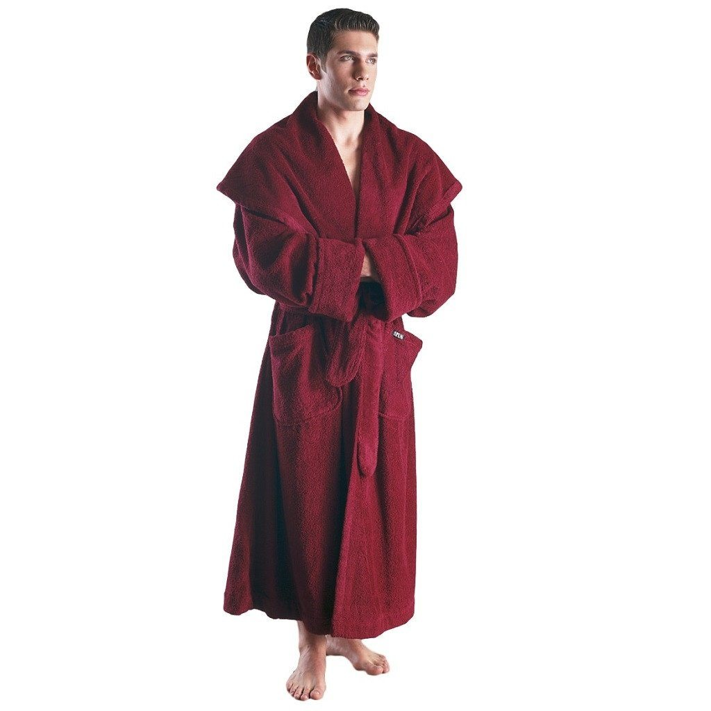 Men's Luxury Monkstyle Full Length Hooded Bathrobe-Bathrobe-ARUS-Top Notch Gift Shop