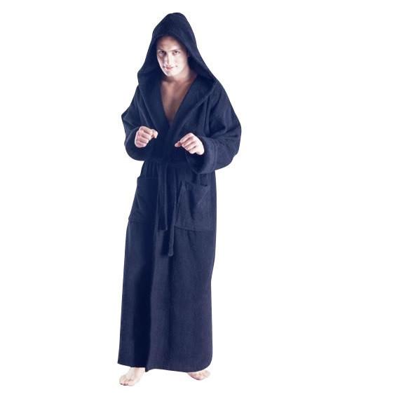 Men's Full Length Hooded Terrycloth Bathrobe-Bathrobe-ARUS-Top Notch Gift Shop