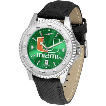 Miami Hurricanes Competitor AnoChrome - Poly/Leather Band Watch