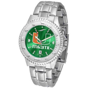 Miami Hurricanes Competitor AnoChrome - Steel Band Watch