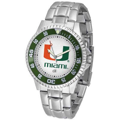 Miami Hurricanes Competitor - Steel Band Watch-Watch-Suntime-Top Notch Gift Shop
