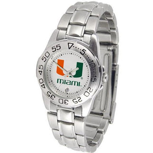 Miami Hurricanes Ladies Steel Band Sports Watch-Watch-Suntime-Top Notch Gift Shop