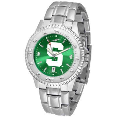 Michigan State Spartans Competitor AnoChrome - Steel Band Watch-Watch-Suntime-Top Notch Gift Shop