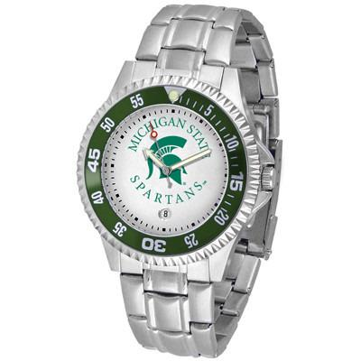 Michigan State Spartans Competitor - Steel Band Watch-Watch-Suntime-Top Notch Gift Shop