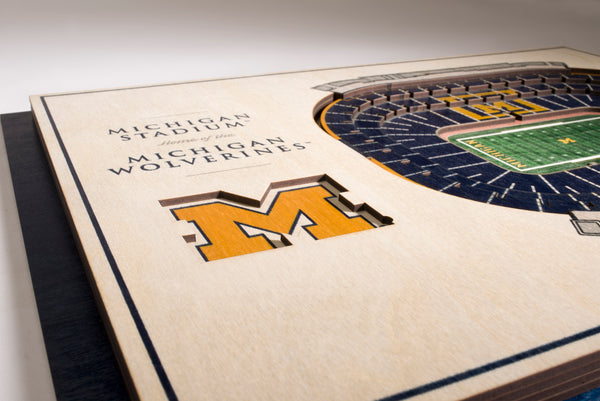 Michigan Wolverines 5 Layer Stadiumview 3D Wall Art-Wall Art-You The Fan-Top Notch Gift Shop