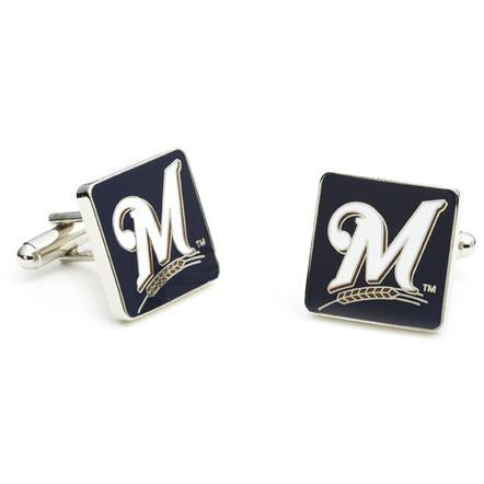 Milwaukee Brewers Enamel Cufflinks-Cufflinks-Cufflinks, Inc.-Top Notch Gift Shop