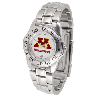 Minnesota Gophers Ladies Steel Band Sports Watch